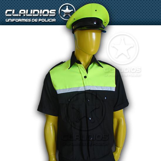 Camisa bicolor verde tránsito