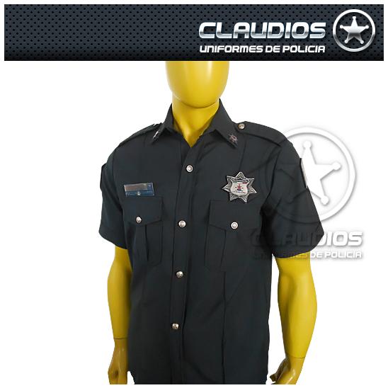 Camisa formal manga corta para policía