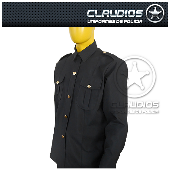Camisola formal manga larga policía